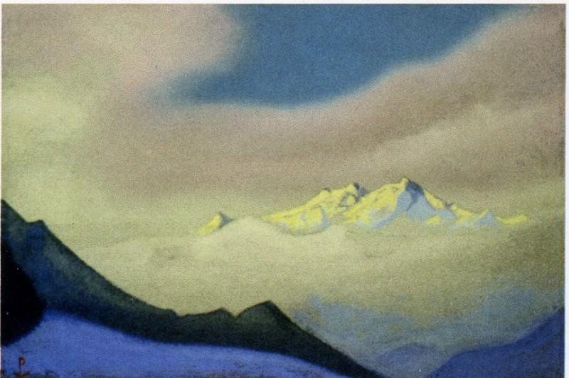 Гималаи #28 Облака на закате. Рерих Н.К. (Часть 6)