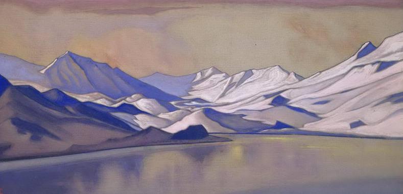 Baralacha # 150 (Mountain Lake, Bara-Lacha Pass). Roerich N.K. (Part 6)
