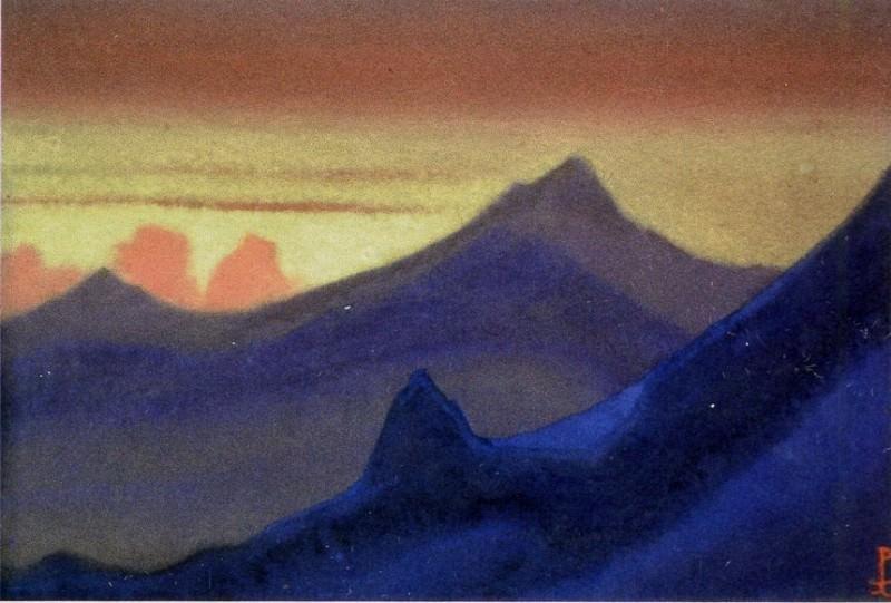Himalayas # 62 Velvety Cliffs. Roerich N.K. (Part 6)