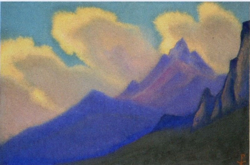 Himalaya # 74 Golden clouds. Roerich N.K. (Part 6)