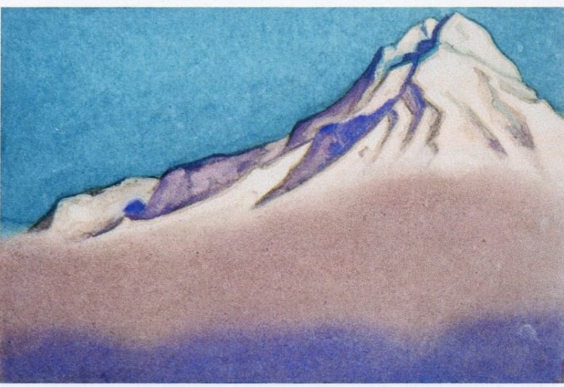 Himalayas # 24 Fog descending from the top. Roerich N.K. (Part 6)