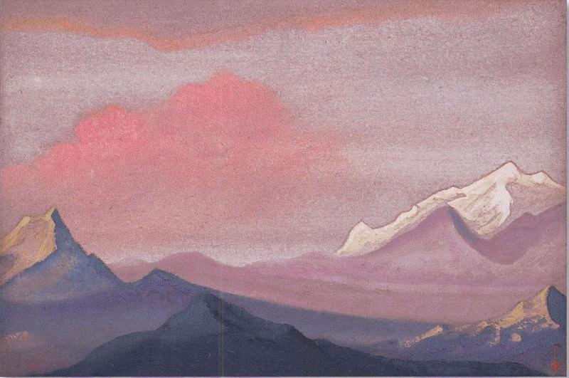 Himalayas # 51 sunset Paints. Roerich N.K. (Part 6)