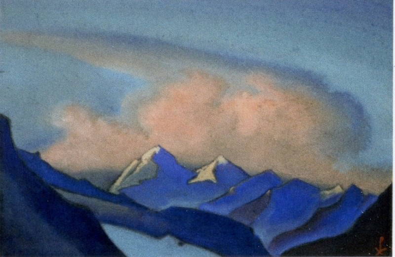 Himalayas # 3 Clouds rolling over the ridge. Roerich N.K. (Part 6)