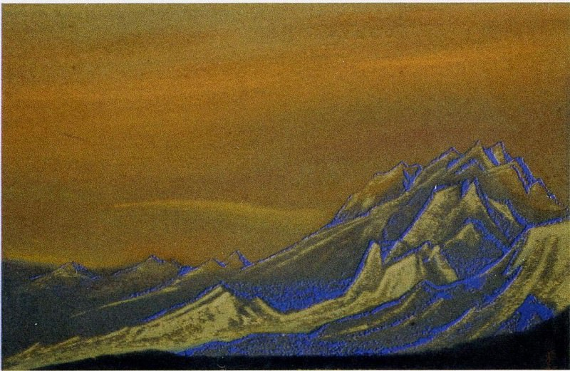 The Himalayas # 41 The Golden Ridge. Roerich N.K. (Part 6)
