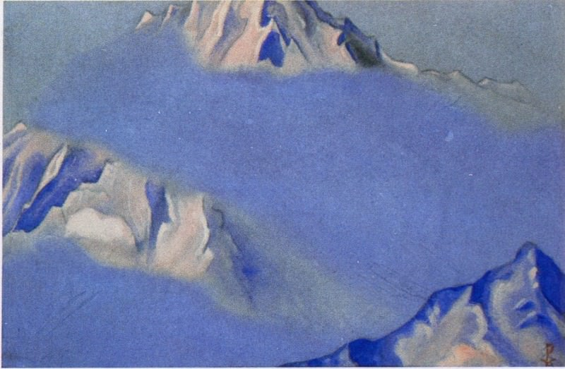 The Himalayas # 145 The fog in the mountains. Roerich N.K. (Part 6)