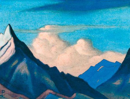 Himalayas # 81 Cloud Castle. Roerich N.K. (Part 6)