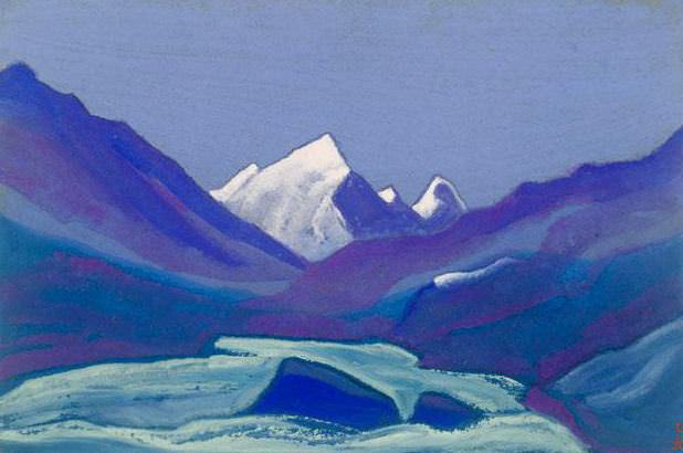 Himalayas # 83 High snow. Roerich N.K. (Part 6)