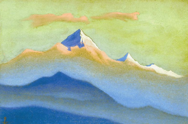 Sunset # 106 Sunset (due to cloud cover). Roerich N.K. (Part 6)