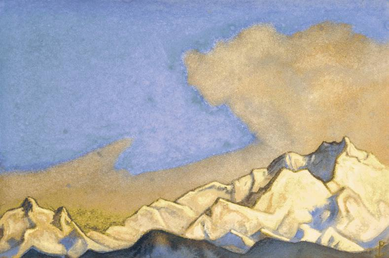 The Himalayas # 47 Snowy Range. Roerich N.K. (Part 6)