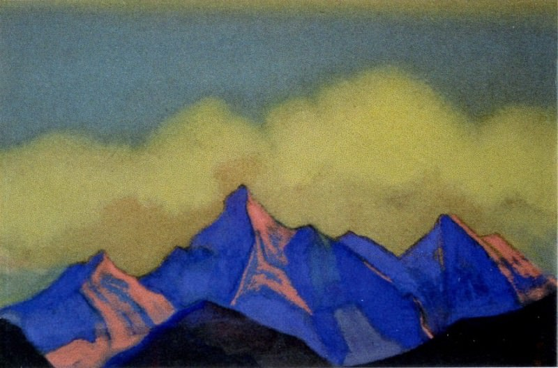 The Himalayas # 20 Clouds and rocks. Roerich N.K. (Part 6)