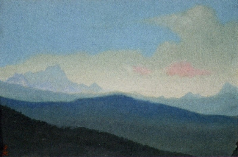 Kedarnath # 135 (Clouds over the tops of mountains ). Roerich N.K. (Part 6)