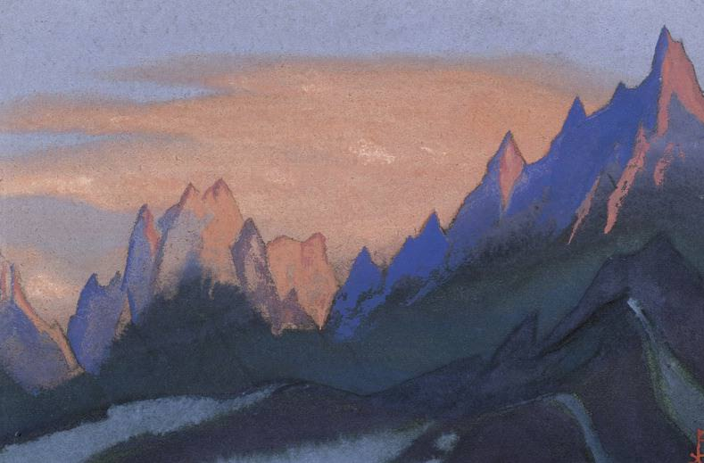 Тибет #67 (Пылающий закат). Рерих Н.К. (Часть 6)