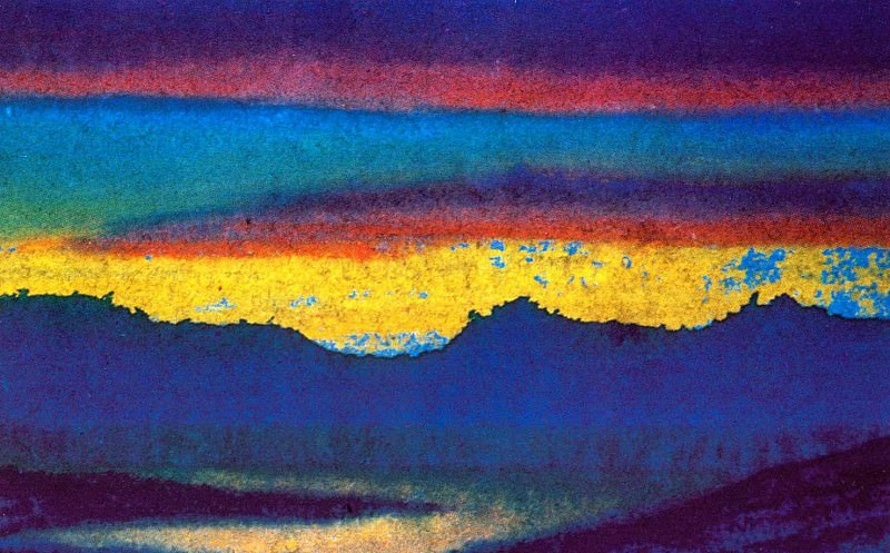 The Himalayas # 178 The Magic of the Sunset. Roerich N.K. (Part 6)