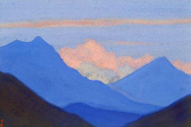The Himalayas # 41 The blazing clouds. Roerich N.K. (Part 6)