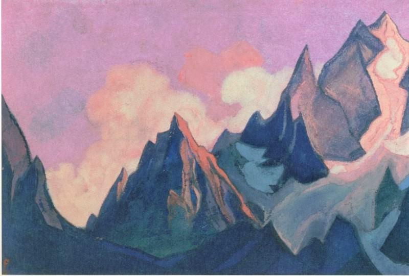 Tibet # 71 (swirling glow). Roerich N.K. (Part 6)