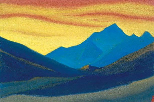 Himalayas # 46 sunset colors. Roerich N.K. (Part 6)