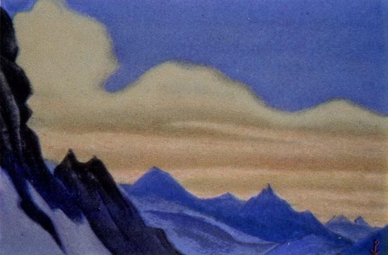 Гималаи #36 Розовые облака. Закат. Рерих Н.К. (Часть 6)