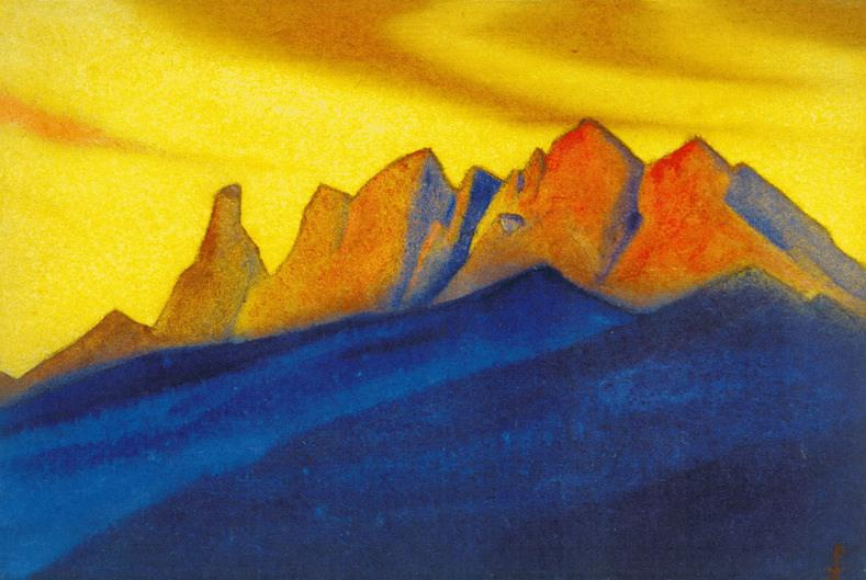 The Himalayas # 153 The Border of the World. Roerich N.K. (Part 6)
