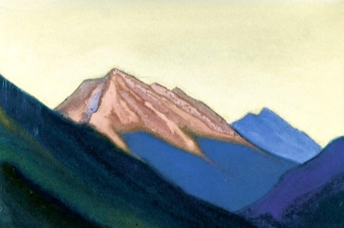 Kuluta # 92 (Himalayas. Crimson vertex at sunset). Roerich N.K. (Part 6)