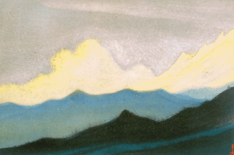 The Himalayas # 43 Mountain chord. Roerich N.K. (Part 6)