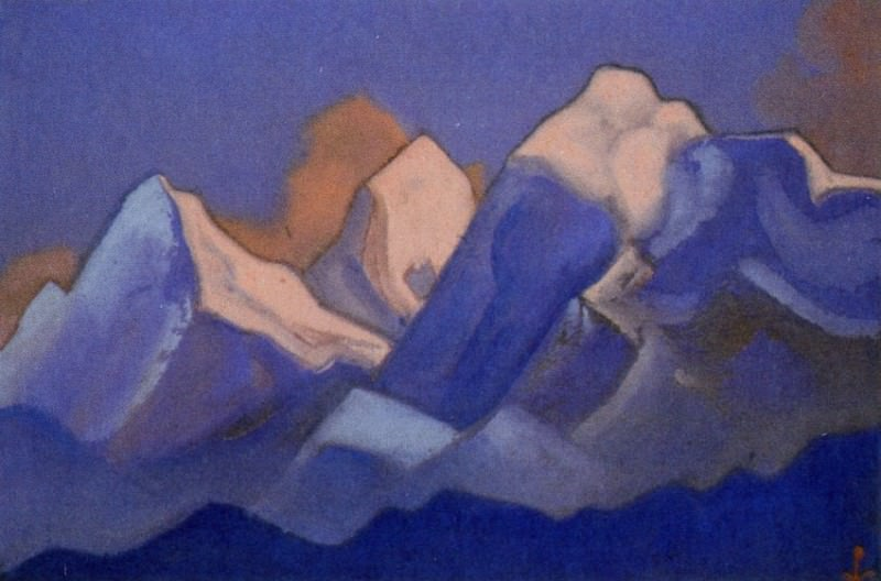 Everest # 73 (Himalayas. Sunset). Roerich N.K. (Part 6)