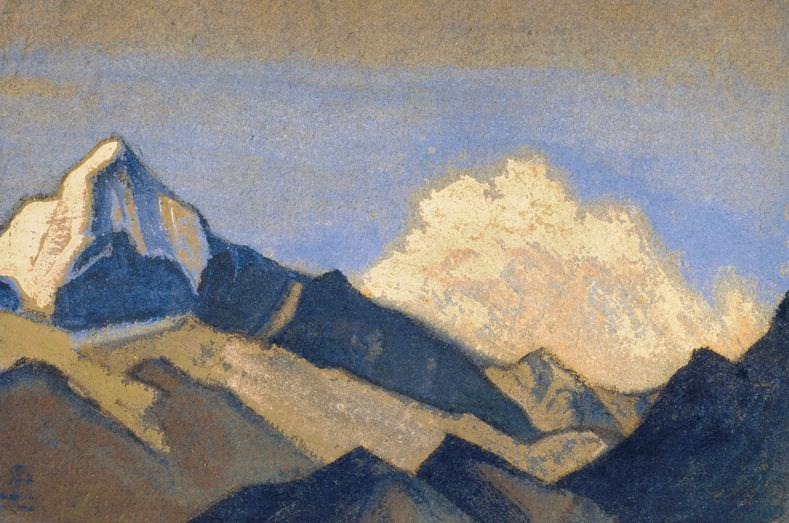 The Himalayas # 79 Harmony of the sky and mountains. Roerich N.K. (Part 6)