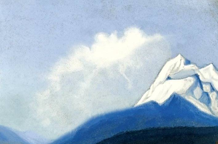 The Himalayas # 110 Cloud and Peak. Roerich N.K. (Part 6)