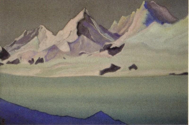 Гималаи #156 Ледник на рассвете. Рерих Н.К. (Часть 6)