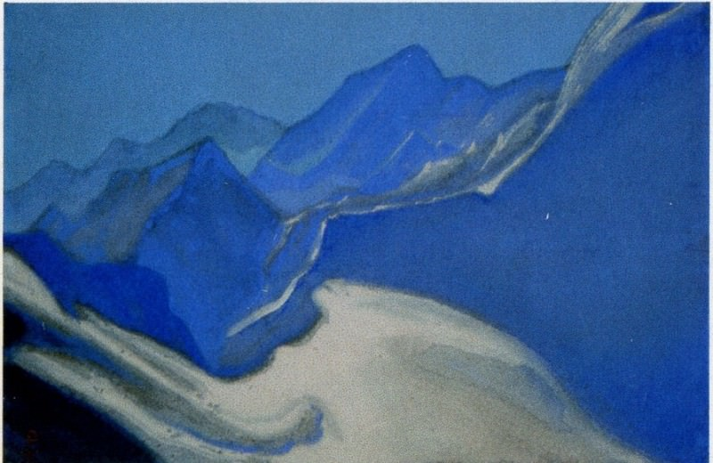 The Himalayas # 111 Glacier. Roerich N.K. (Part 6)