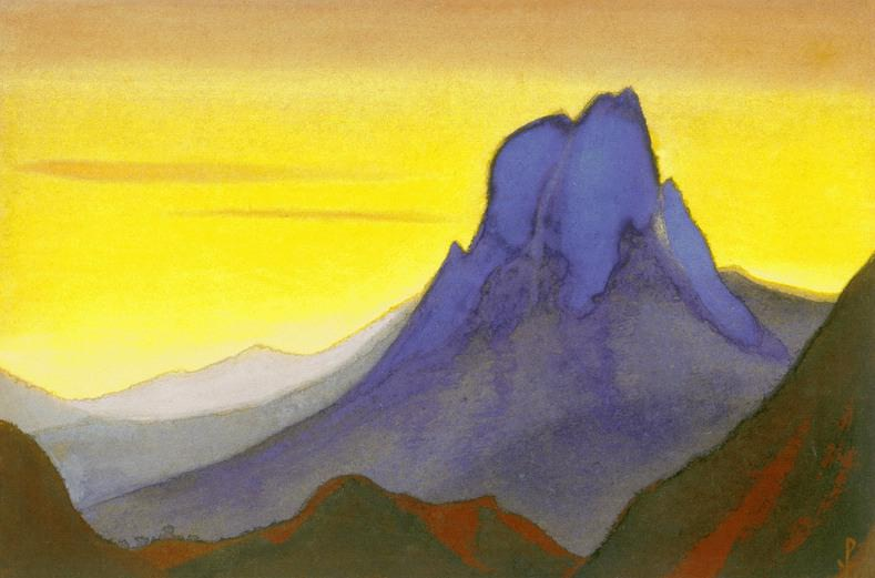 The Himalayas # 60 The Stone Stronghold. Roerich N.K. (Part 6)