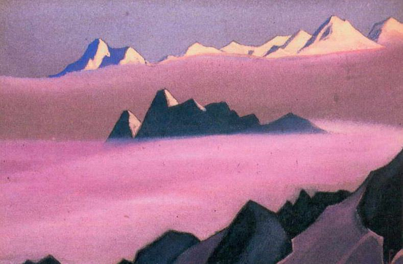 The Himalayas # 120 Lilac fog. Roerich N.K. (Part 6)