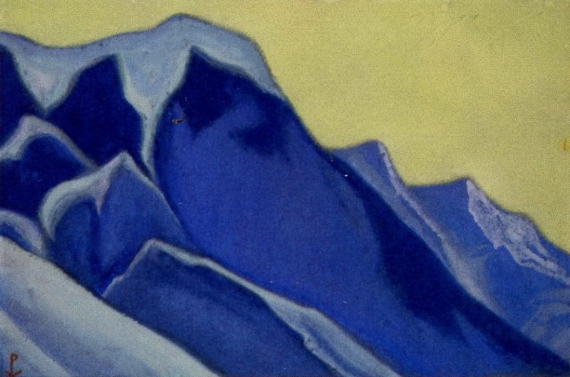The Himalayas # 133 The Inaccessible Rocks. Roerich N.K. (Part 6)