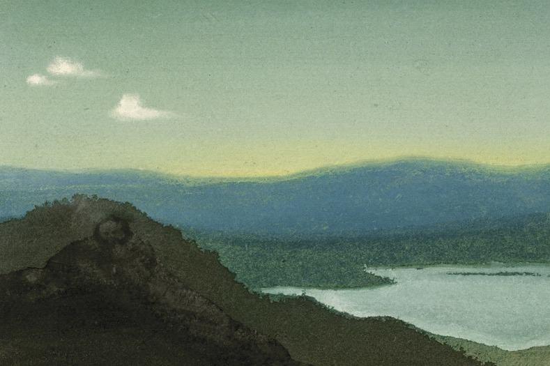 Tsaidam # 36 (Clouds over lake). Roerich N.K. (Part 6)