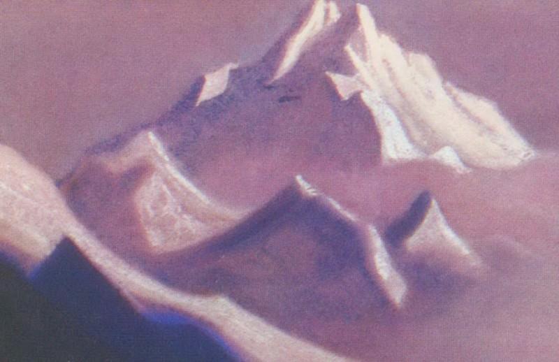 Гималаи #65 Гималаи. Вершина в лиловом свете. Roerich N.K. (Part 6)