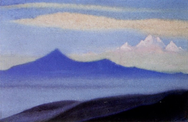 Himalayas # 197 Mountains at dawn. Roerich N.K. (Part 6)
