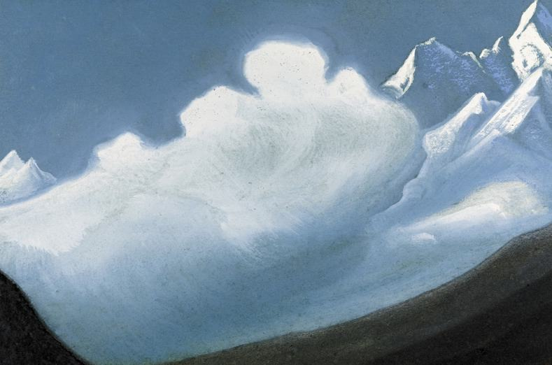 The Himalayas # 21 The cloud on top. Roerich N.K. (Part 6)