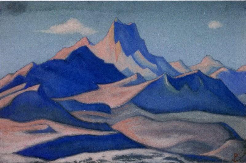 Гималаи #155 Горная гряда. Закат. Roerich N.K. (Part 6)
