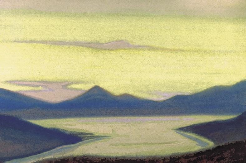Lake # 95 (Mountain landscape. Lake). Roerich N.K. (Part 6)