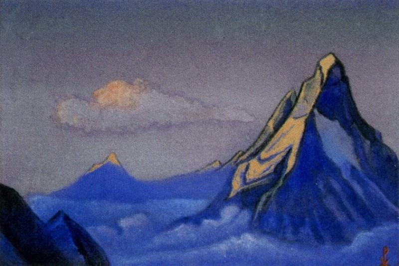 Himalayas # 8 mountain peaks. Clouds. Roerich N.K. (Part 6)
