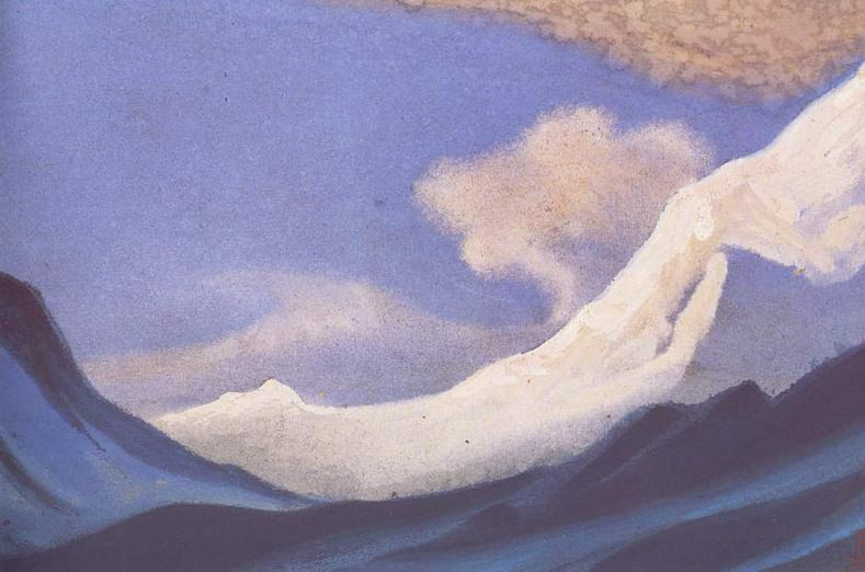 The Himalayas (Clouds over the Snows) # 25. Roerich N.K. (Part 6)