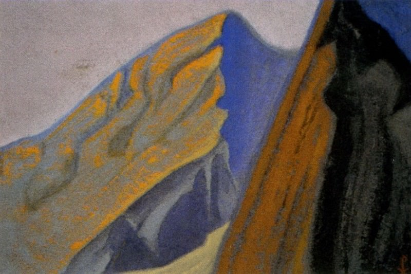 Himalayas # 62 Tor . Sunset. Roerich N.K. (Part 6)