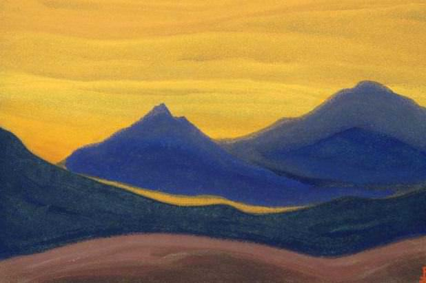 Evening # 45 evening (Amber sky). Roerich N.K. (Part 6)