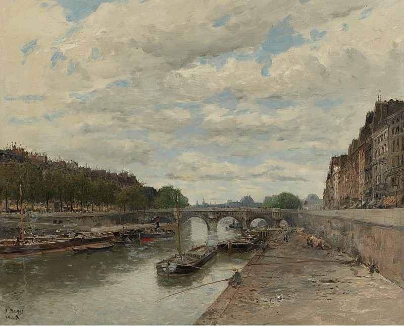 Frank Myers Boggs - Pont Neuf, 1896. Sotheby's