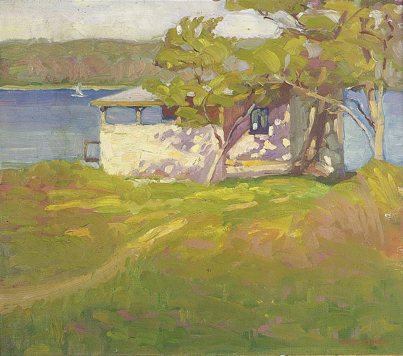 Harry Stinson - Boathouse at Laurelton Hall, 1925. Sotheby's