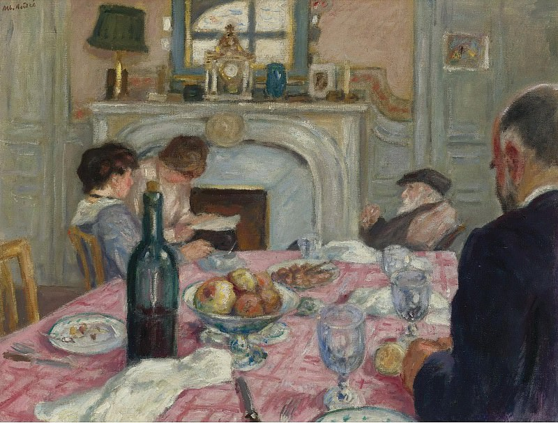 Albert Andre - After Breakfast in Renoirs House, 1917. Sotheby's