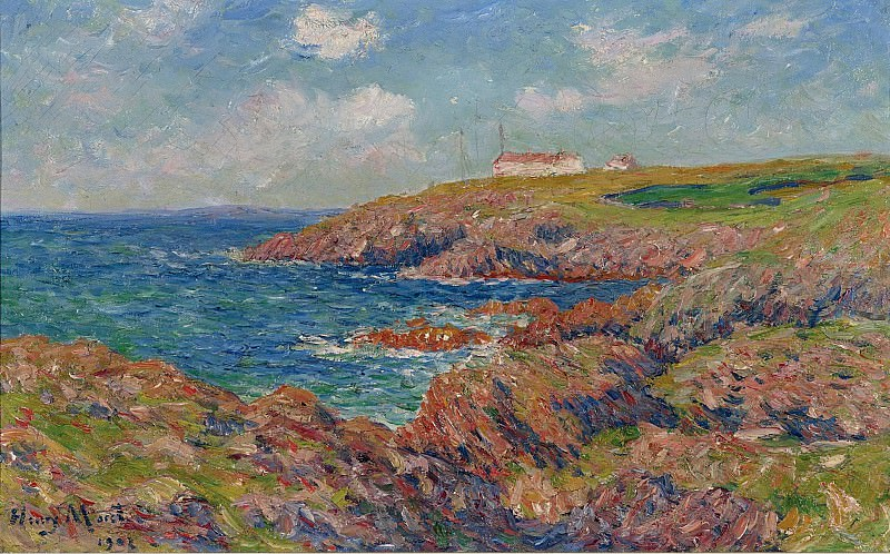 Henry Moret - The Semaphore, Cote de Bretagne, 1902. Sotheby's