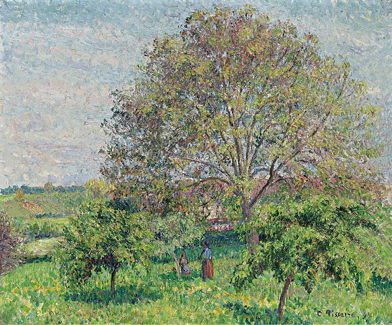 Alfred Sisley - Great Nut-Tree in Spring, Eragny, 1894. Sotheby's