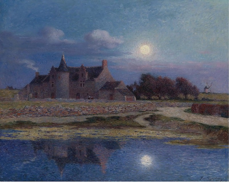 Ferdinand du Puigaudeau - Kervaudu under the Clear Moon. Sotheby's