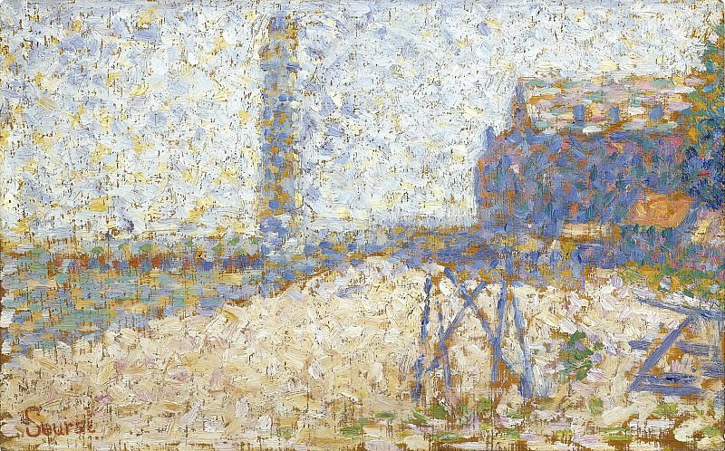 Georges Seurat - The Hospice and a Lighthouse of Honfleur, 1886. Sotheby's