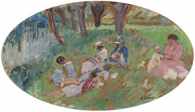 Henri Lebasque - The Lebasque Family near the Water, 1917. Sotheby's